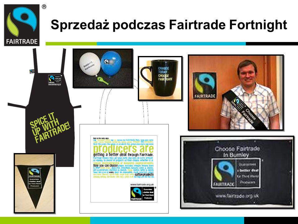 Sprzedaż podczas Fairtrade Fortnight