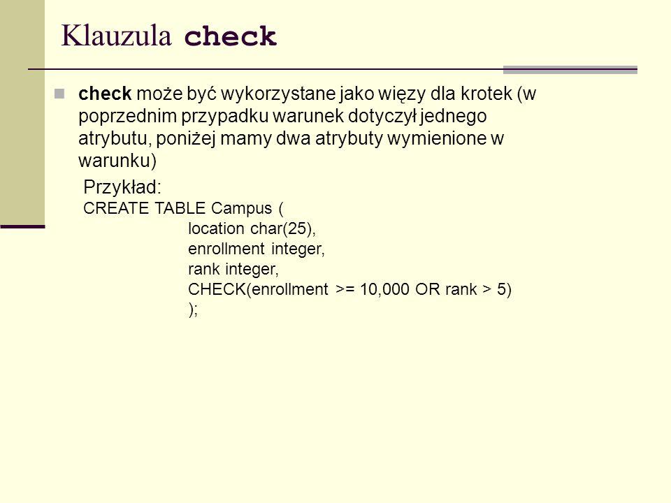 Klauzula check