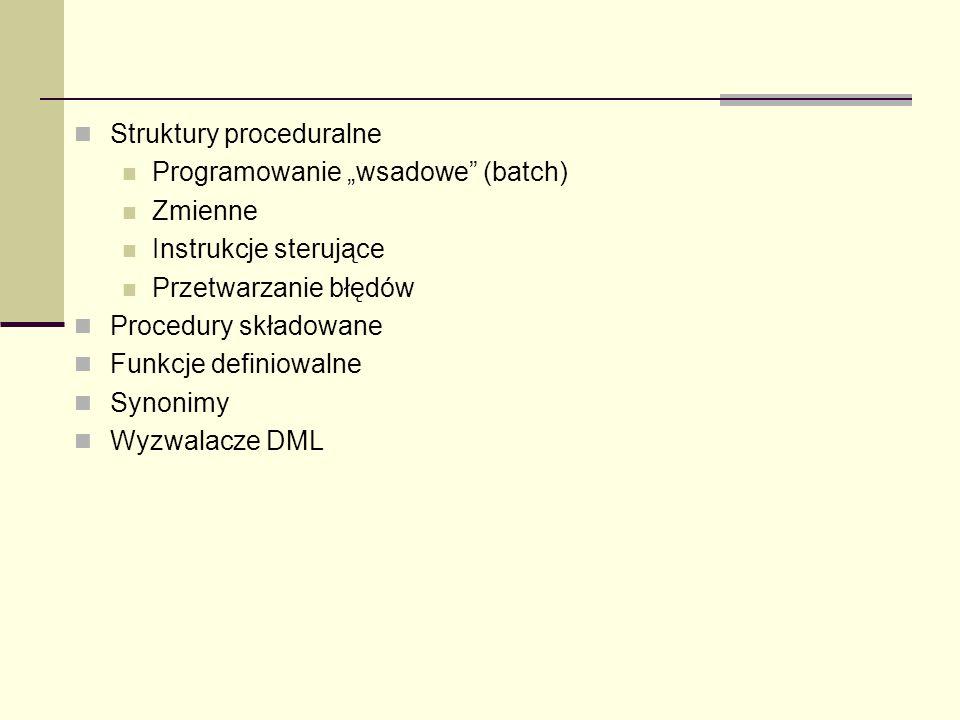 Struktury proceduralne