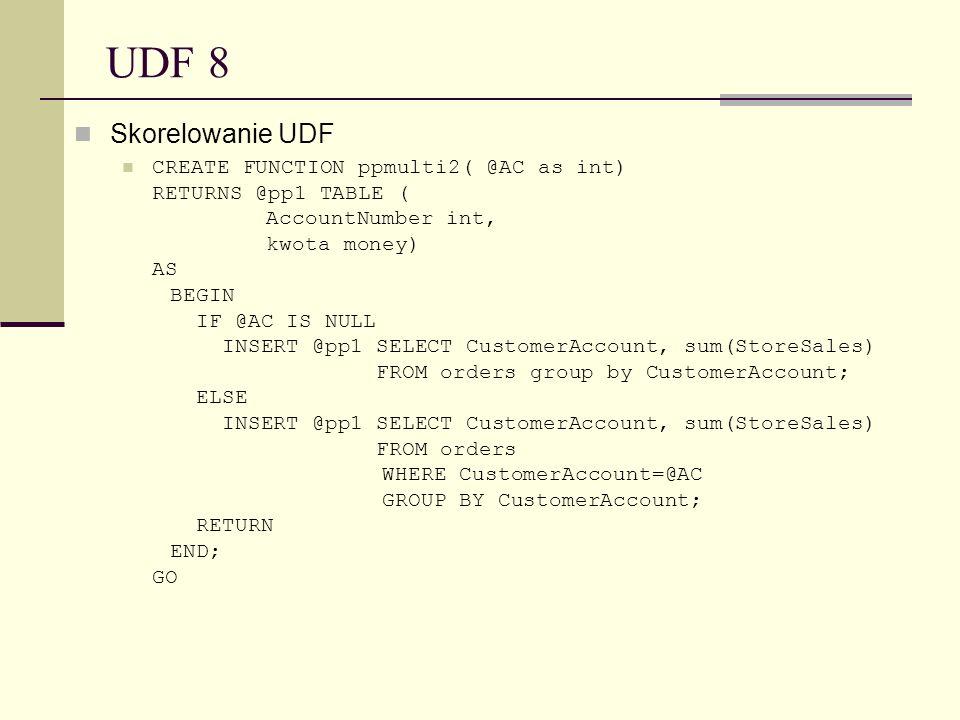 UDF 8Skorelowanie UDF.