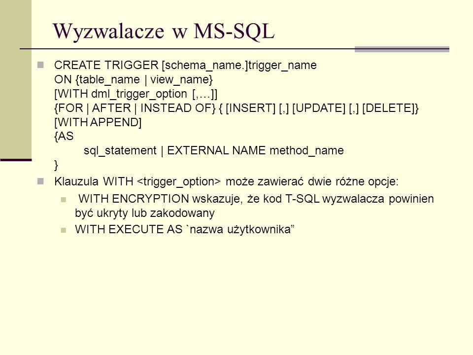 Wyzwalacze w MS-SQL