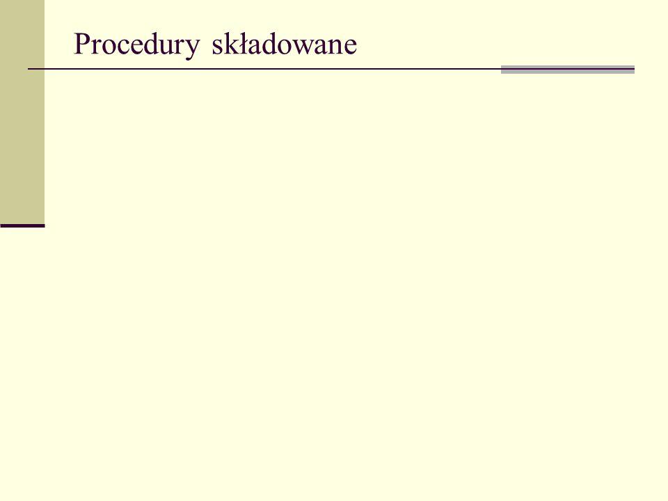 Procedury składowane