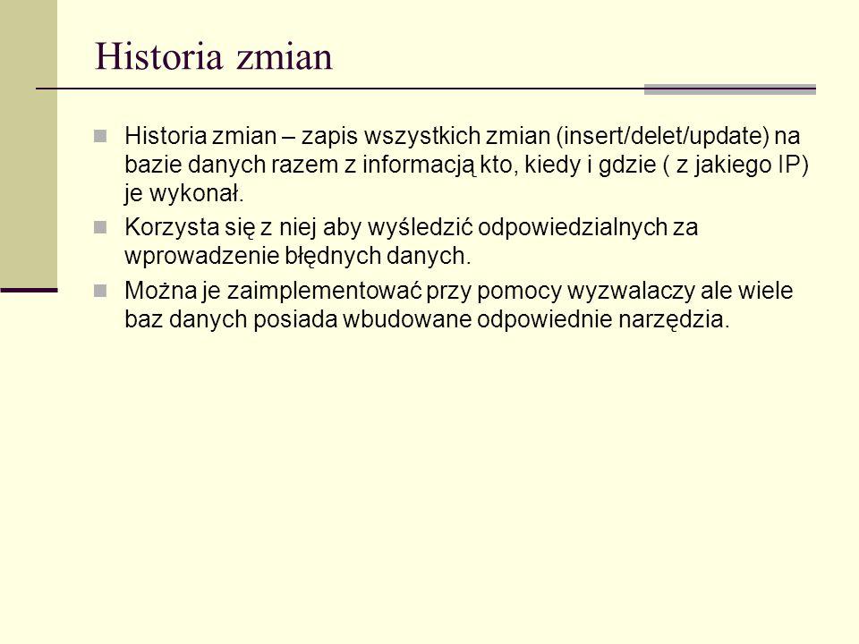Historia zmian