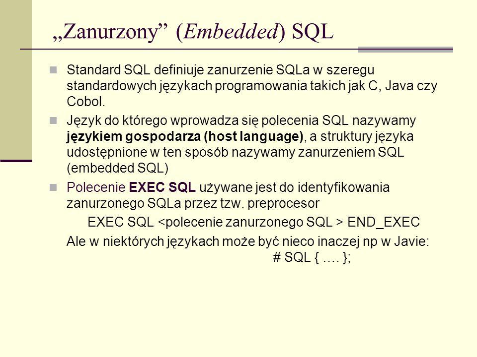 """""""Zanurzony (Embedded) SQL"""
