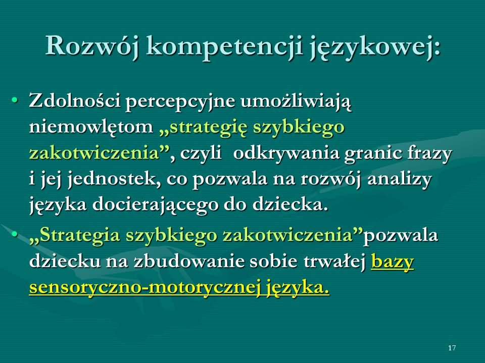 Rozwój kompetencji językowej: