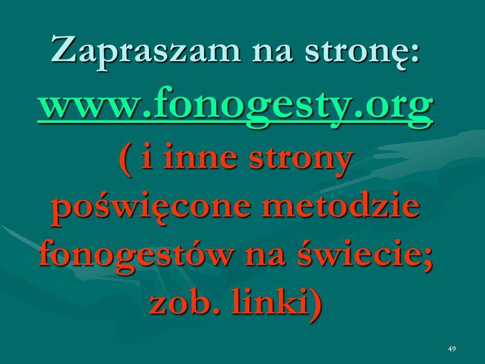 Zapraszam na stronę: www. fonogesty
