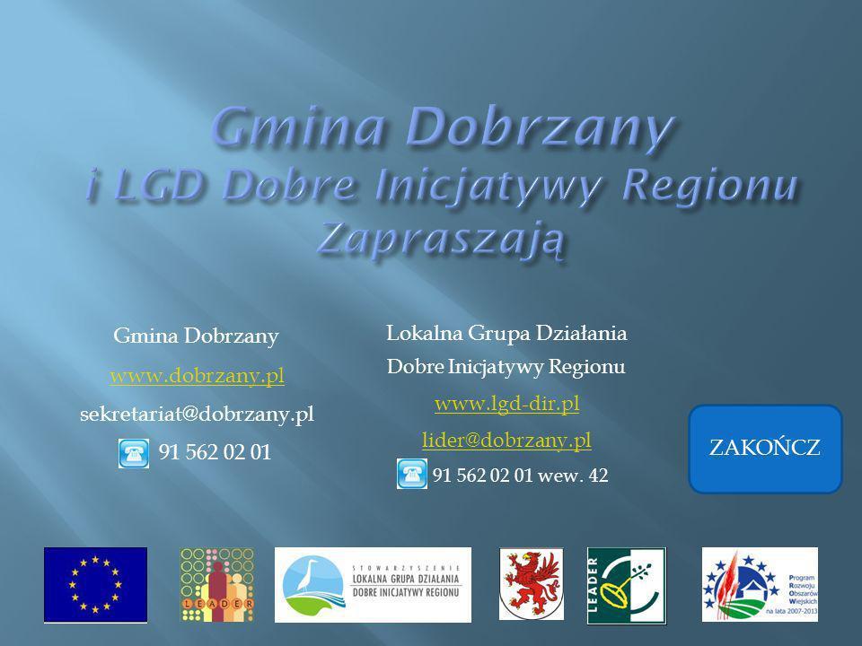 Gmina Dobrzany i LGD Dobre Inicjatywy Regionu Zapraszają