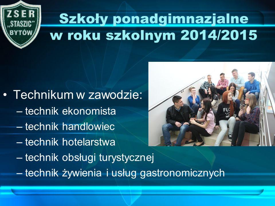 Szkoły ponadgimnazjalne w roku szkolnym 2014/2015