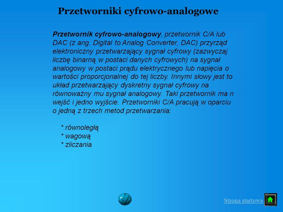 Przetworniki cyfrowo-analogowe