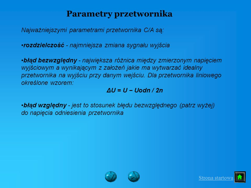 Parametry przetwornika