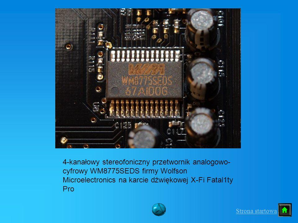 4-kanałowy stereofoniczny przetwornik analogowo-cyfrowy WM8775SEDS firmy Wolfson Microelectronics na karcie dźwiękowej X-Fi Fatal1ty Pro