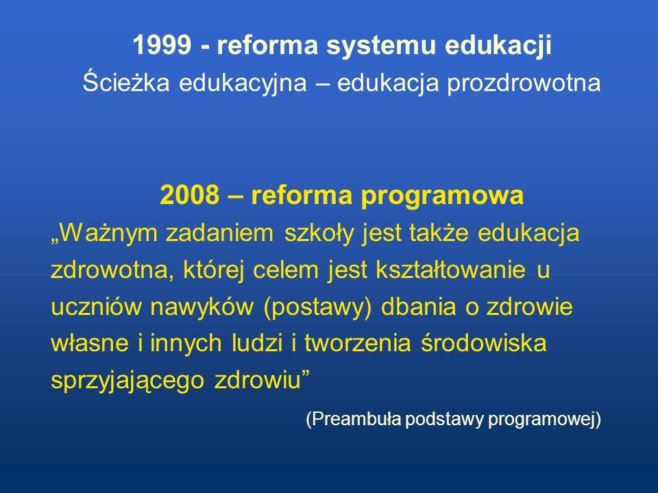 1999 - reforma systemu edukacji