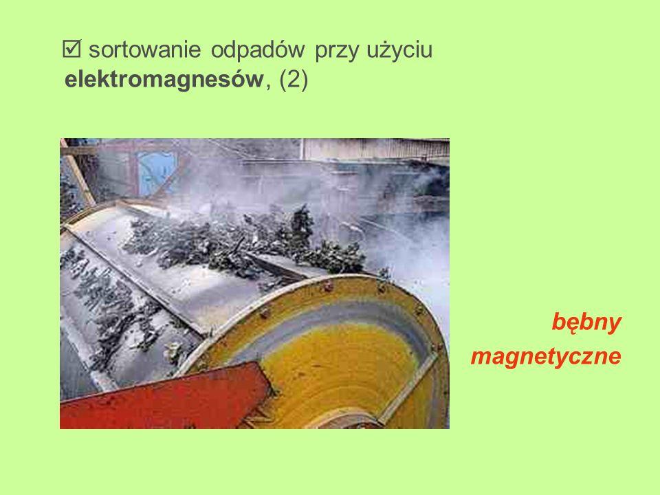  sortowanie odpadów przy użyciu elektromagnesów, (2)