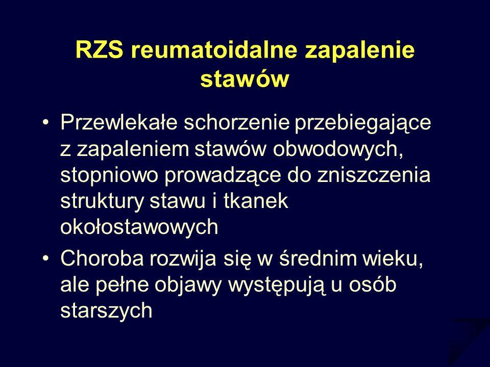 RZS reumatoidalne zapalenie stawów