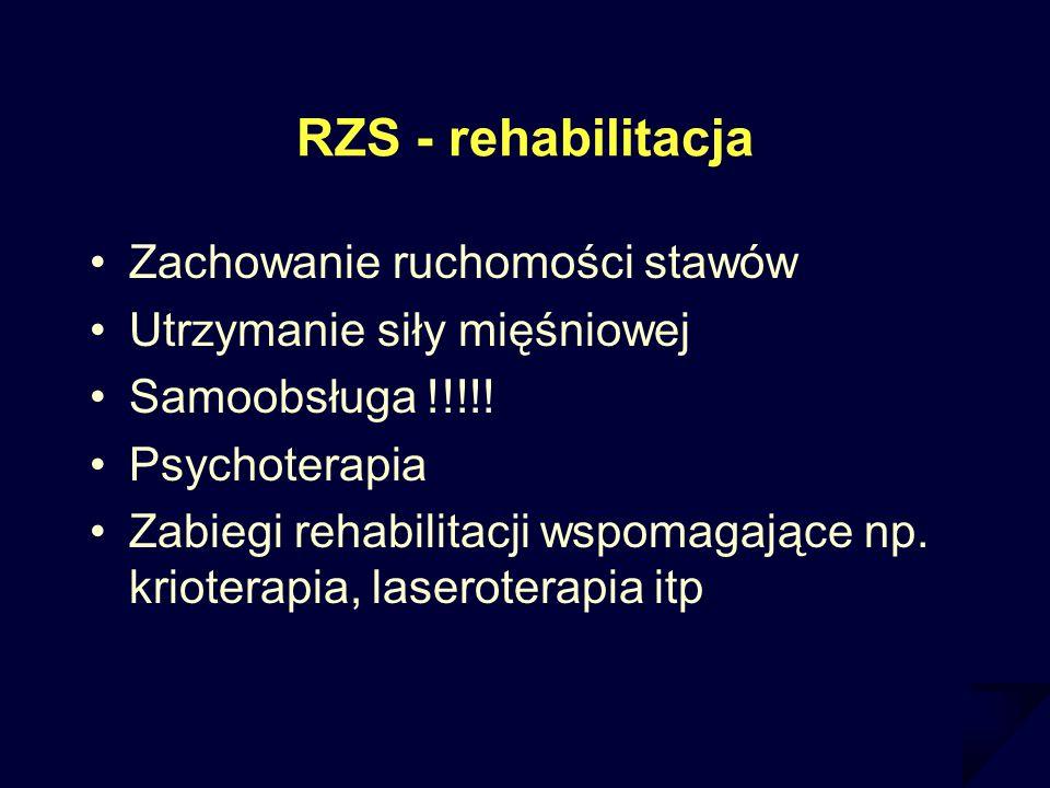 RZS - rehabilitacja Zachowanie ruchomości stawów
