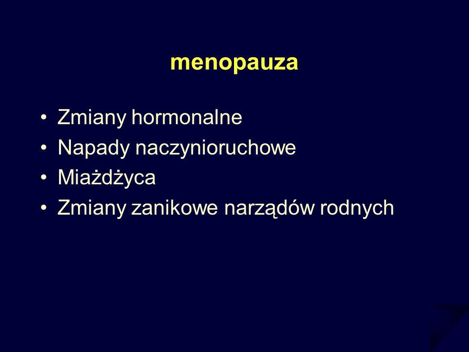 menopauza Zmiany hormonalne Napady naczynioruchowe Miażdżyca