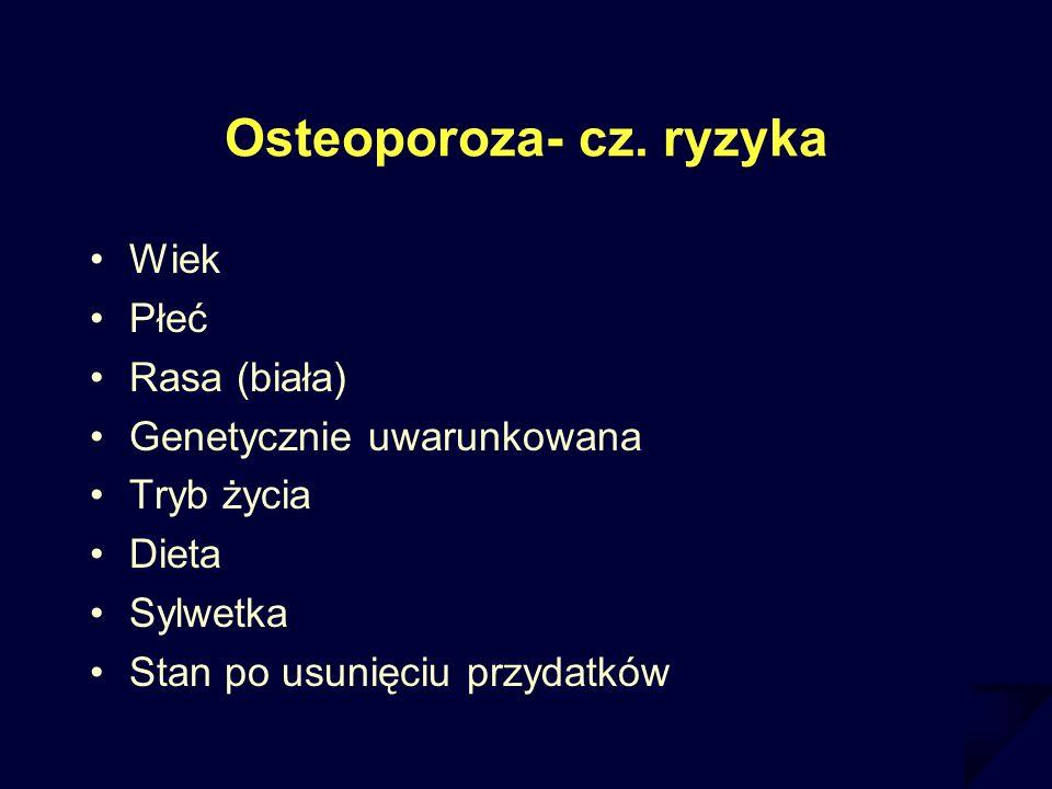Osteoporoza- cz. ryzyka
