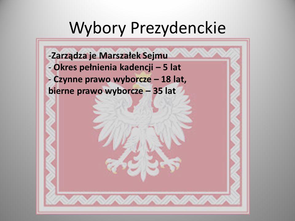 Wybory Prezydenckie Zarządza je Marszałek Sejmu