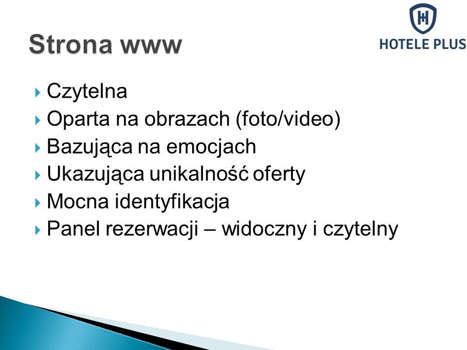 Strona www Czytelna Oparta na obrazach (foto/video)