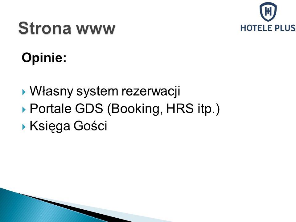 Strona www Opinie: Własny system rezerwacji