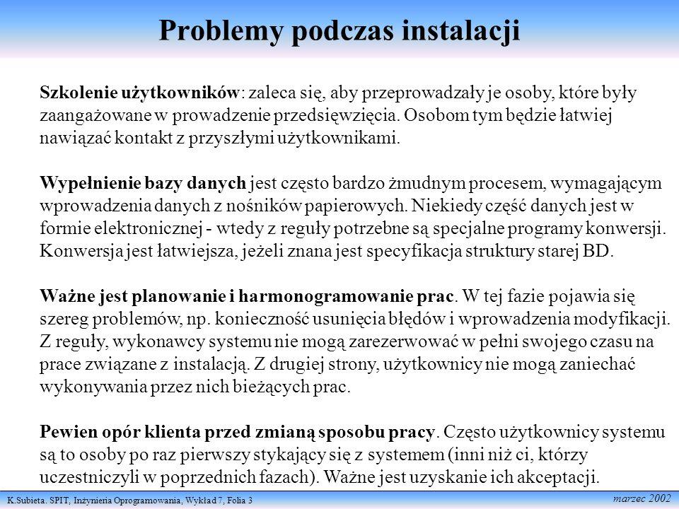 Problemy podczas instalacji