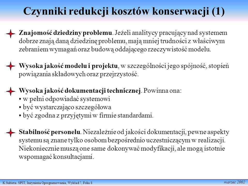 Czynniki redukcji kosztów konserwacji (1)