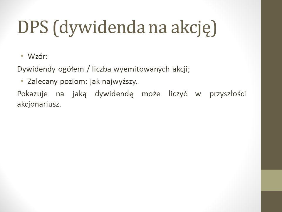 DPS (dywidenda na akcję)