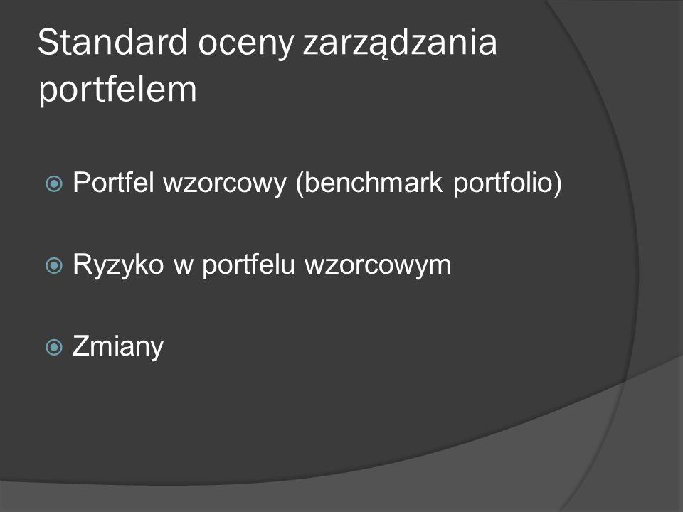 Standard oceny zarządzania portfelem