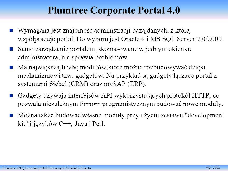 Plumtree Corporate Portal 4.0