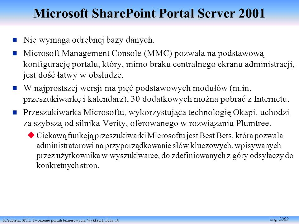 Microsoft SharePoint Portal Server 2001