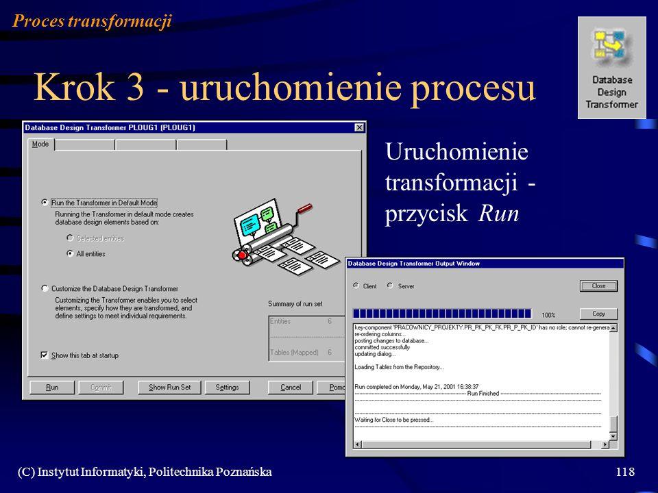 Krok 3 - uruchomienie procesu