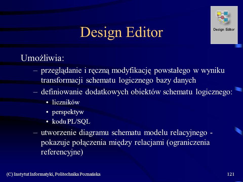 Design Editor Umożliwia: