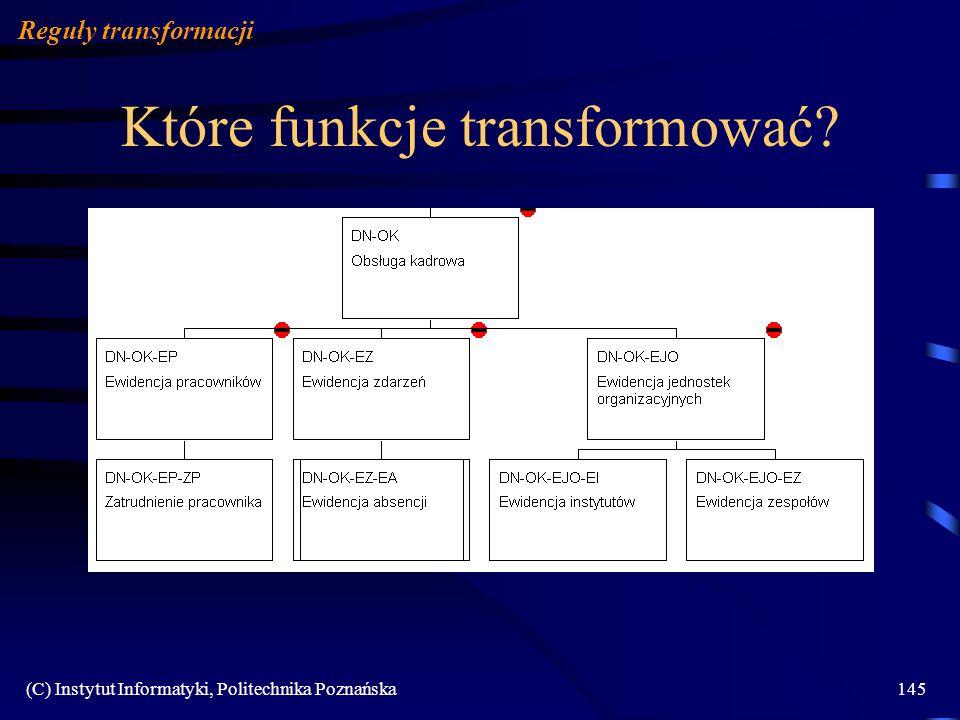 Które funkcje transformować