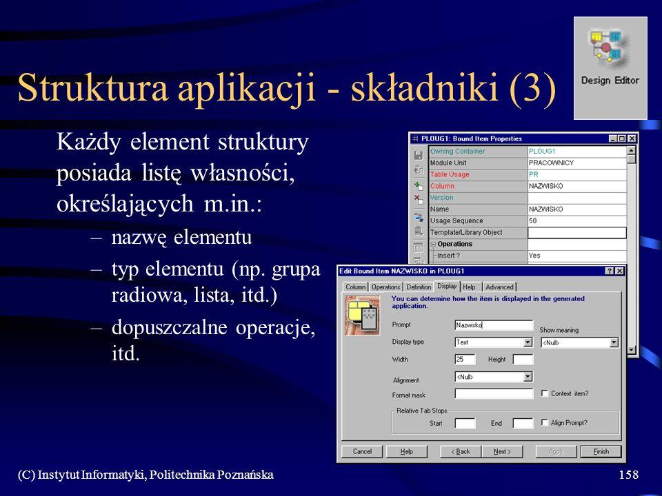 Struktura aplikacji - składniki (3)