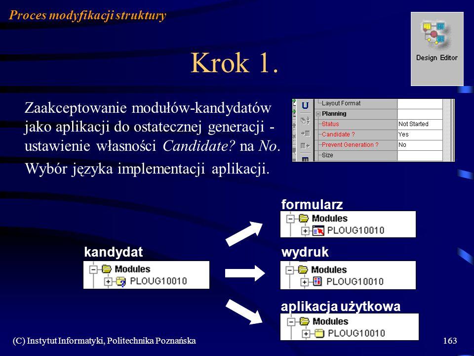 Proces modyfikacji struktury