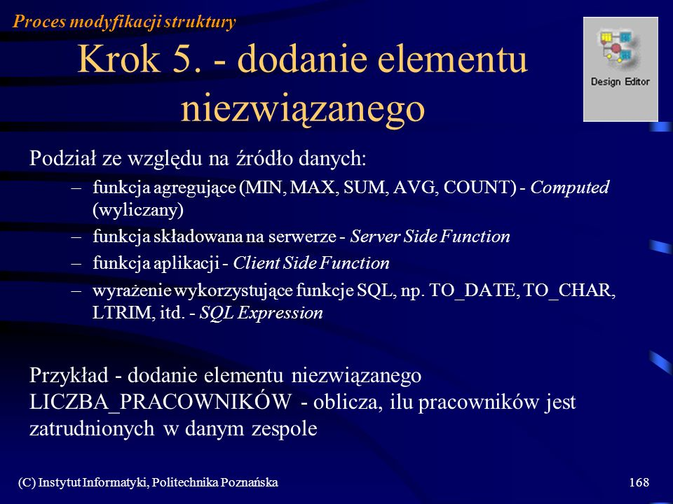 Krok 5. - dodanie elementu niezwiązanego
