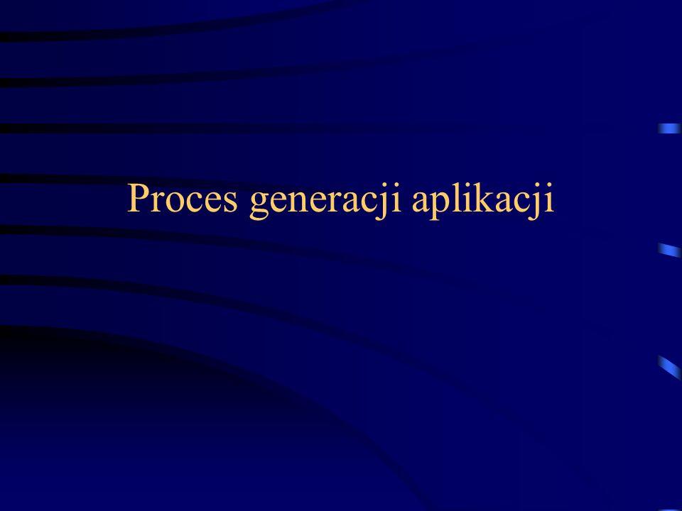 Proces generacji aplikacji