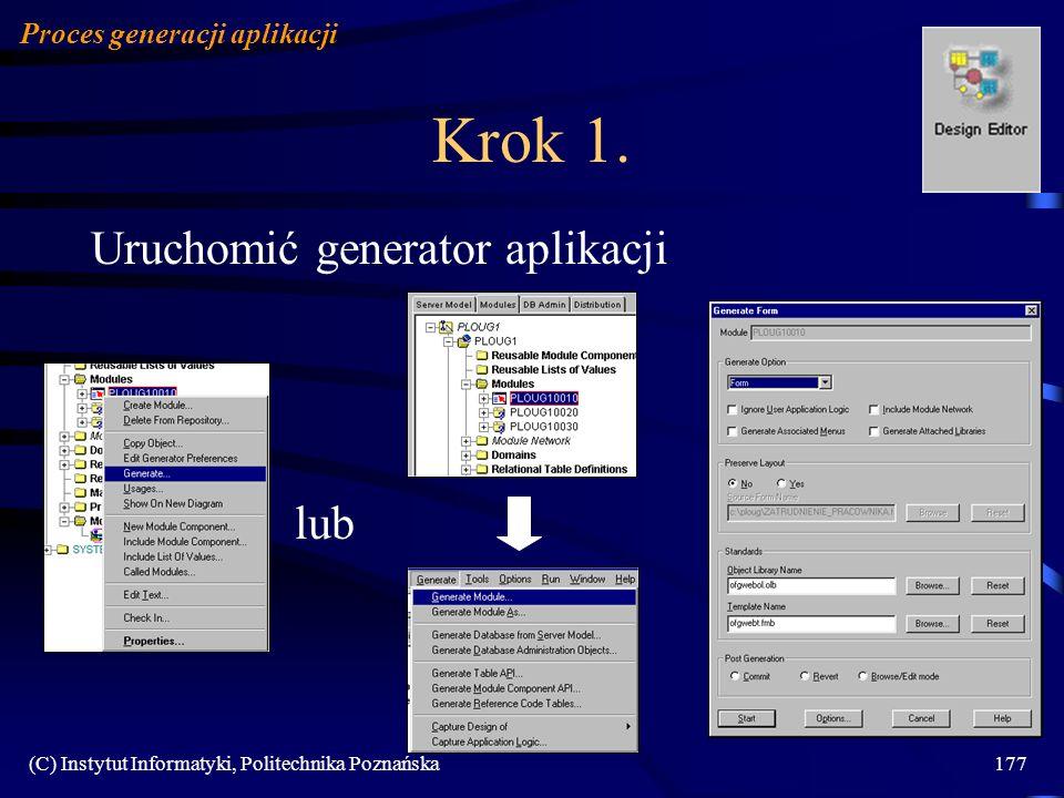Krok 1. Uruchomić generator aplikacji lub Proces generacji aplikacji