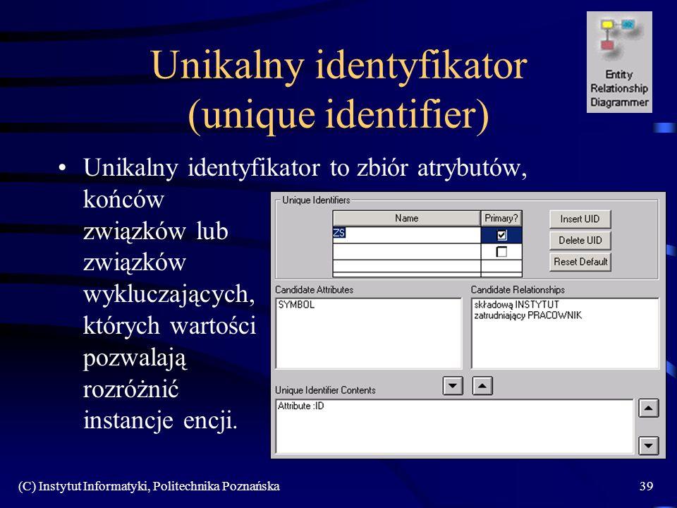 Unikalny identyfikator (unique identifier)