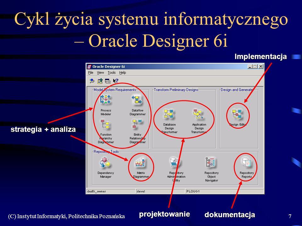 Cykl życia systemu informatycznego – Oracle Designer 6i