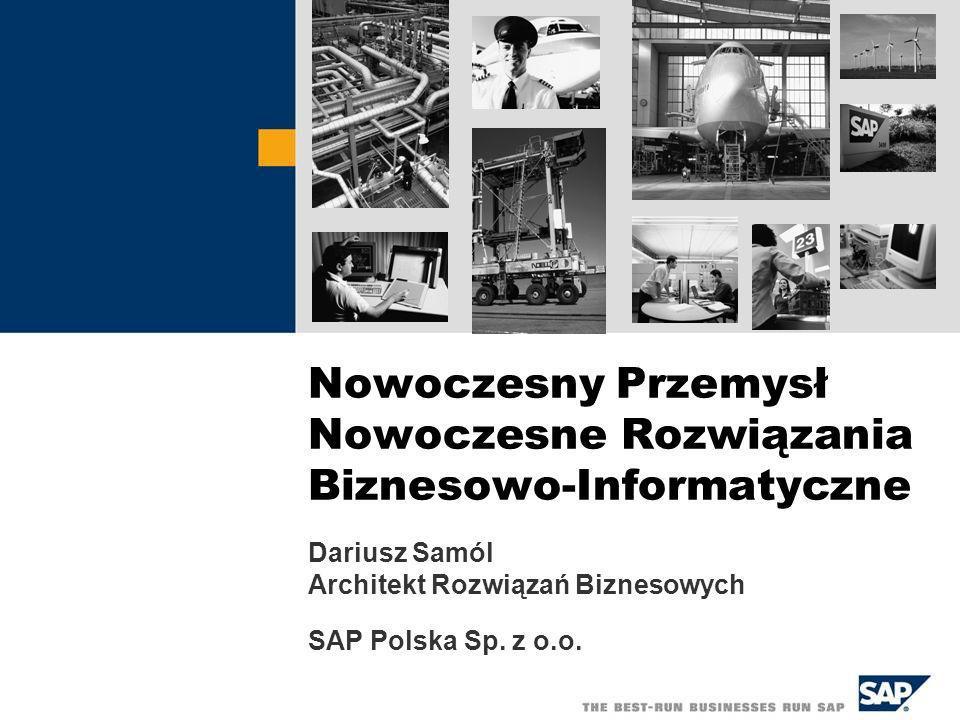 Nowoczesny Przemysł Nowoczesne Rozwiązania Biznesowo-Informatyczne