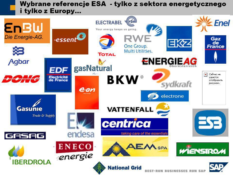 Wybrane referencje ESA - tylko z sektora energetycznego i tylko z Europy…