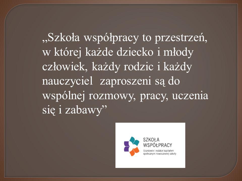 """""""Szkoła współpracy to przestrzeń,"""