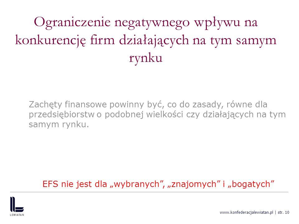 """EFS nie jest dla """"wybranych , """"znajomych i """"bogatych"""