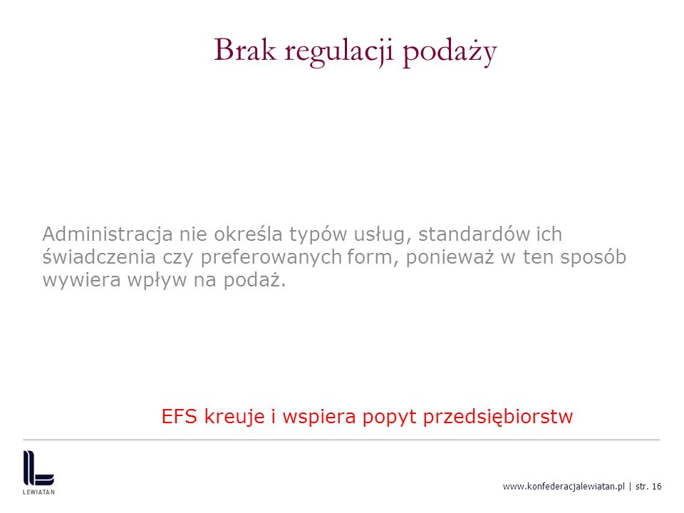 EFS kreuje i wspiera popyt przedsiębiorstw