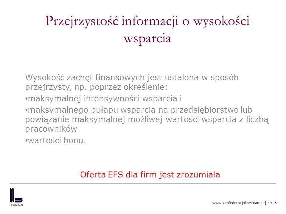 Przejrzystość informacji o wysokości wsparcia