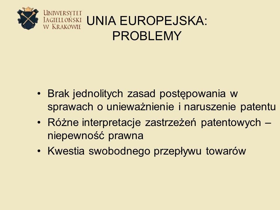 UNIA EUROPEJSKA: PROBLEMY