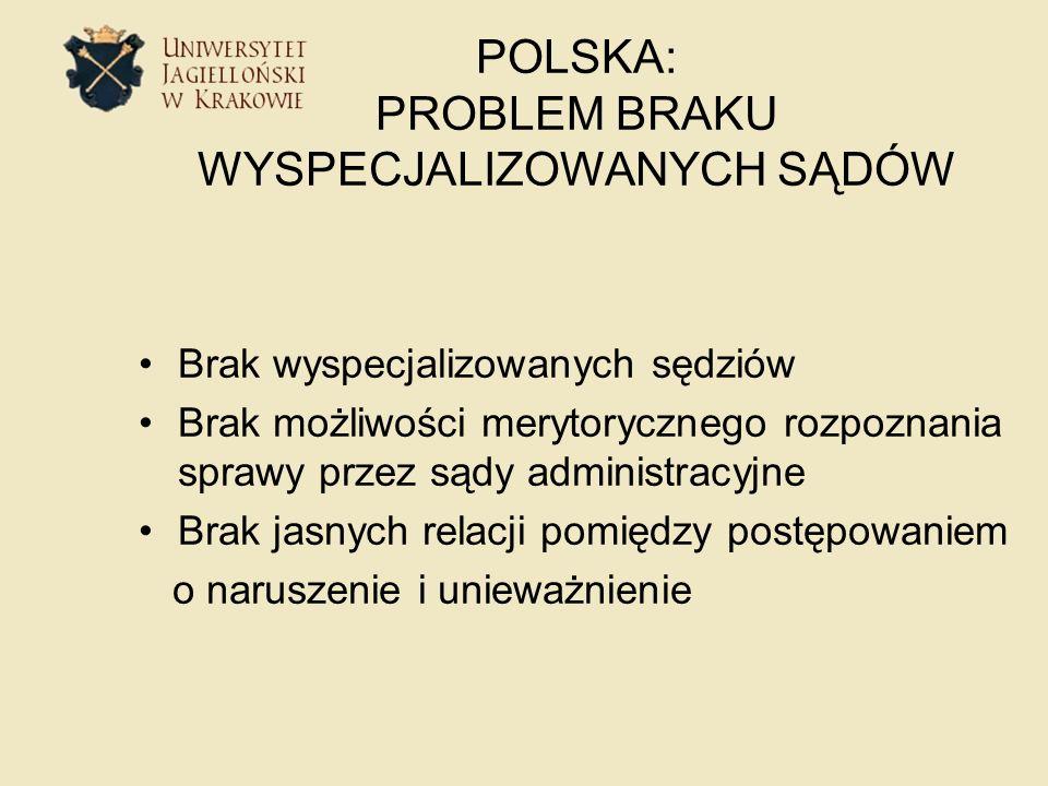 POLSKA: PROBLEM BRAKU WYSPECJALIZOWANYCH SĄDÓW