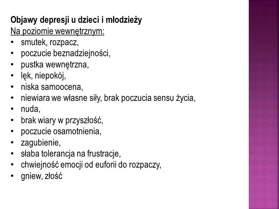 Objawy depresji u dzieci i młodzieży