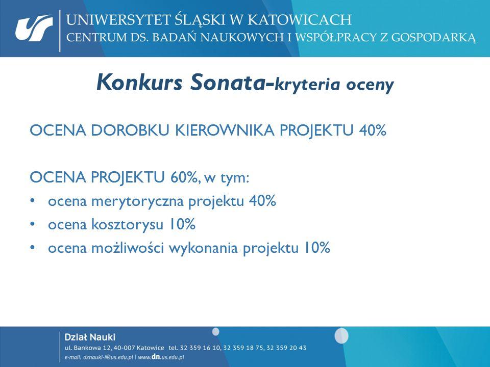 Konkurs Sonata-kryteria oceny